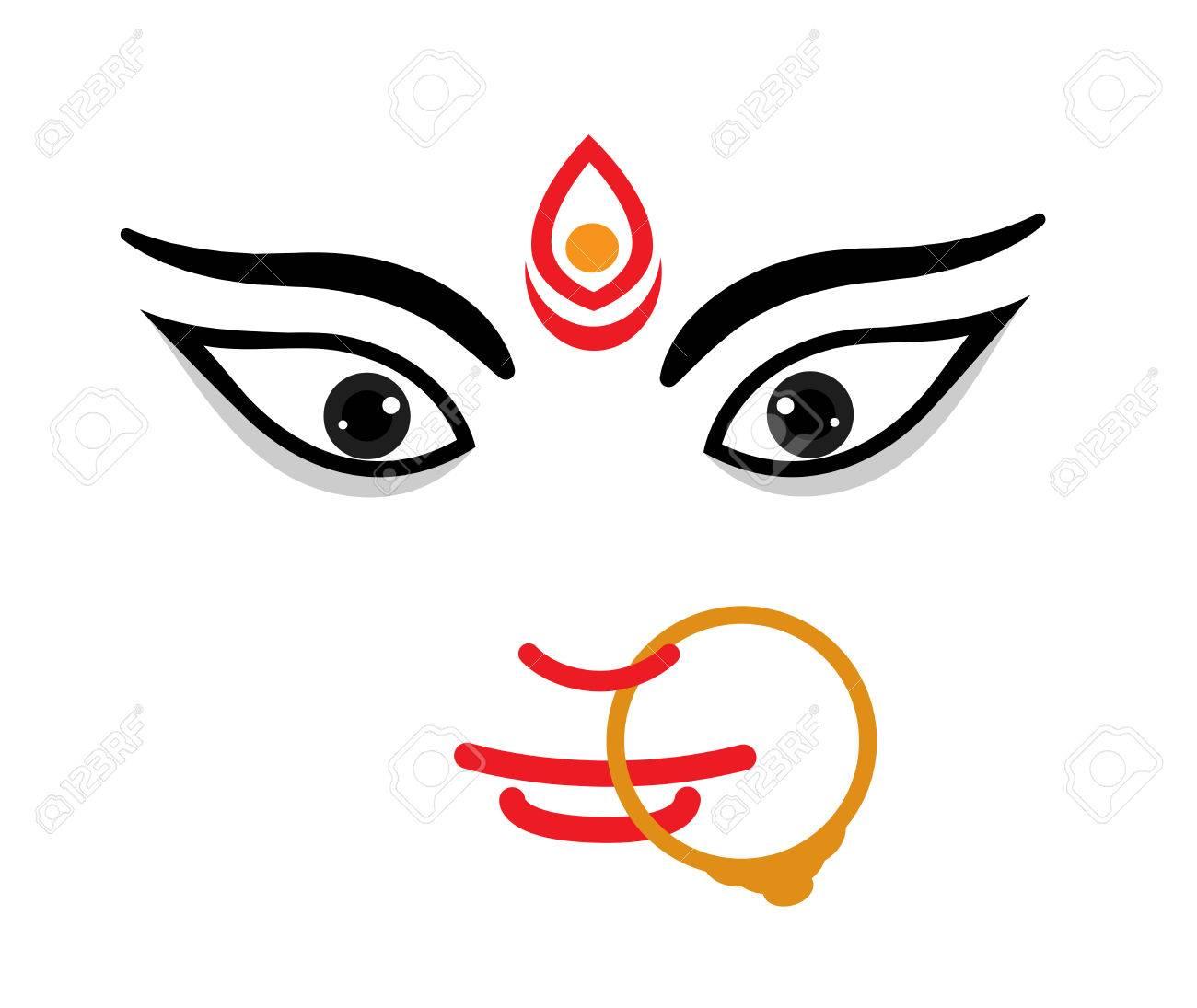 Pics of maa durga face