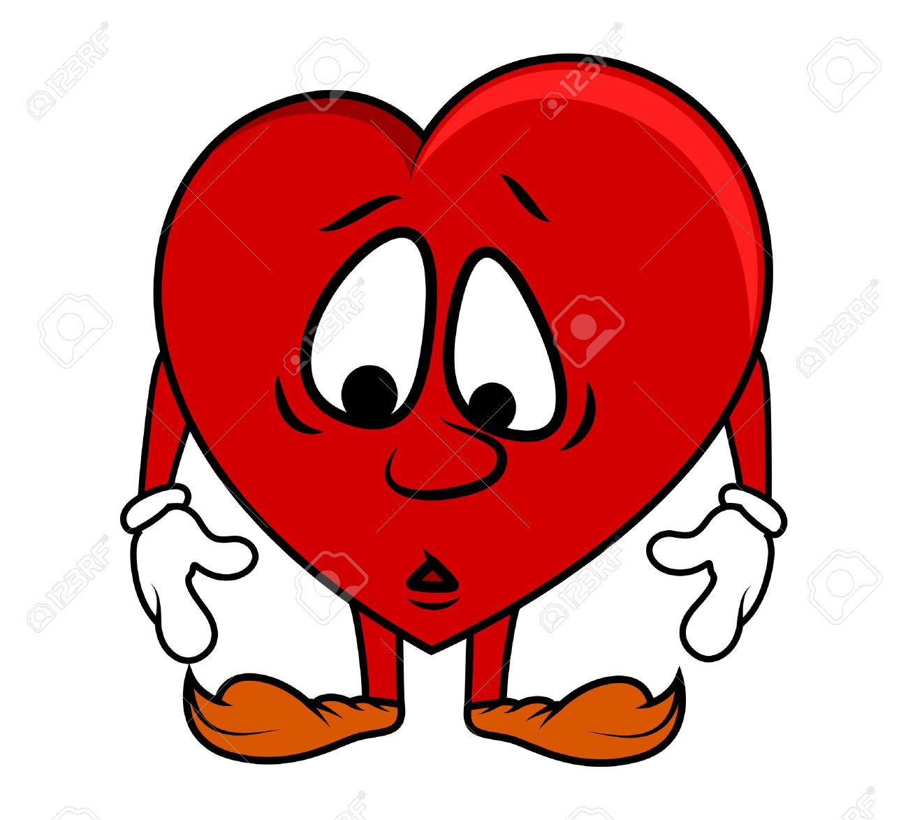 Sad cartoon heart royalty free cliparts vectors and stock sad cartoon heart voltagebd Choice Image