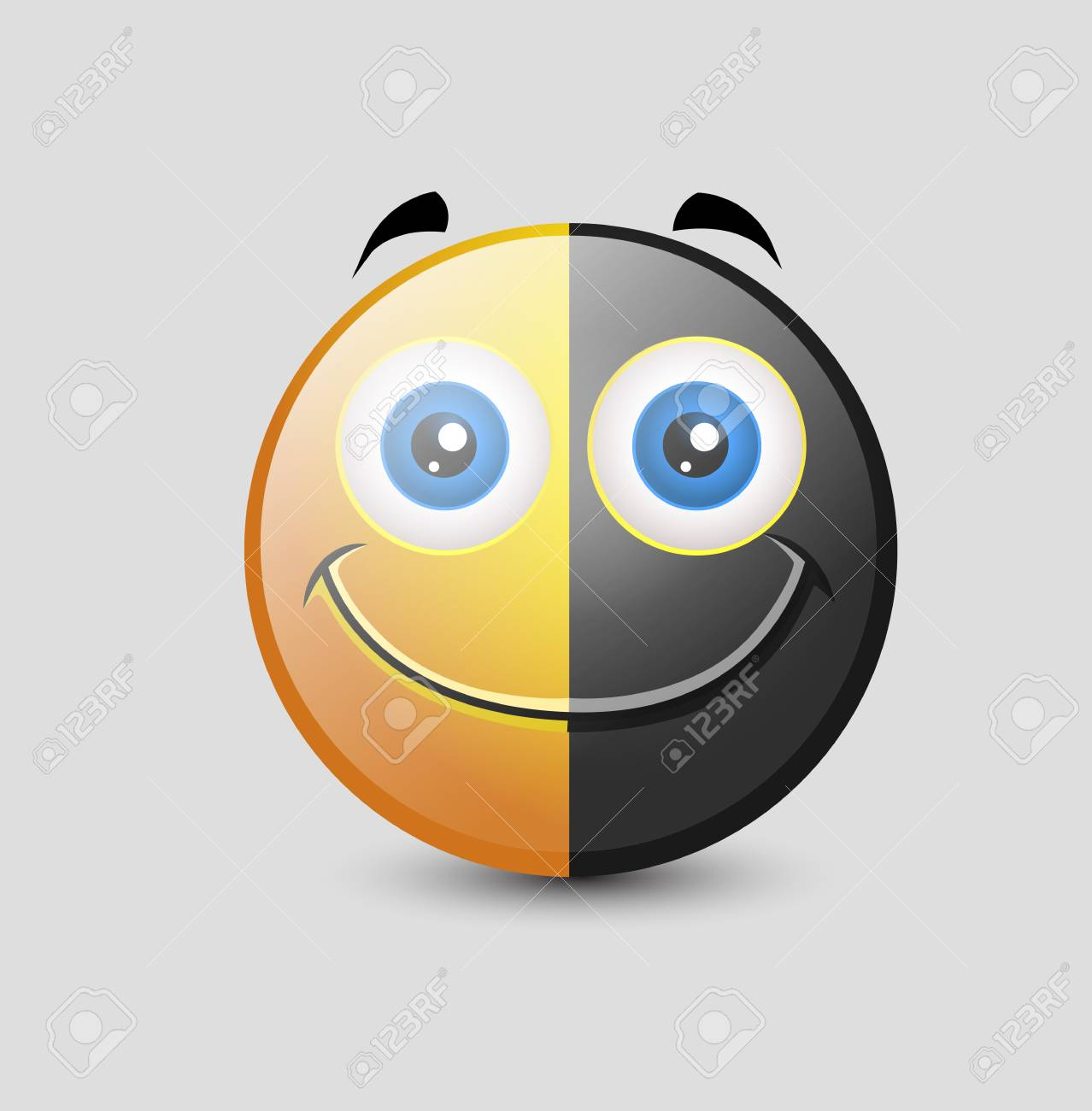 Yin Yang Comic Emoji Smiley Emoticon Royalty Free Cliparts Vectors And Stock Illustration Image 52150828