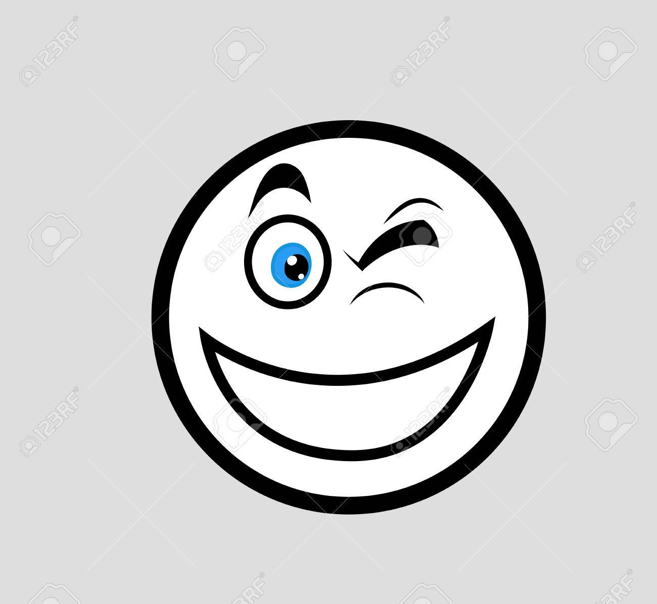 winking eye smile clipart royalty free cliparts vectors and stock rh 123rf com Man Winking Clip Art Winking Eye Drawing