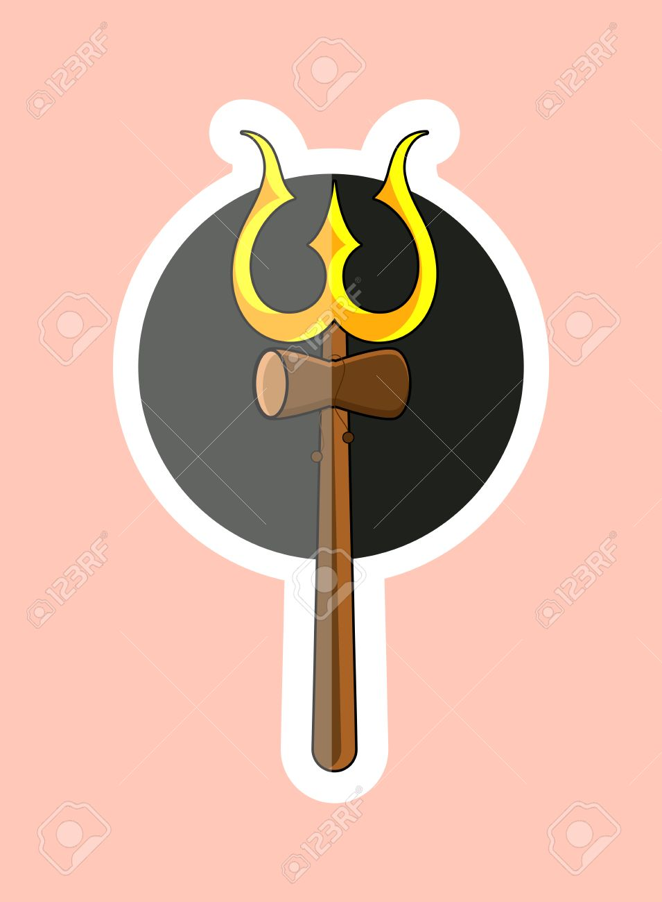 Sticker of trident of shiva symbol royalty free cliparts vectors sticker of trident of shiva symbol stock vector 57731691 biocorpaavc Image collections