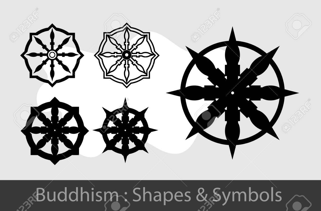 Buddhism symbols royalty free cliparts vectors and stock buddhism symbols stock vector 57731875 biocorpaavc