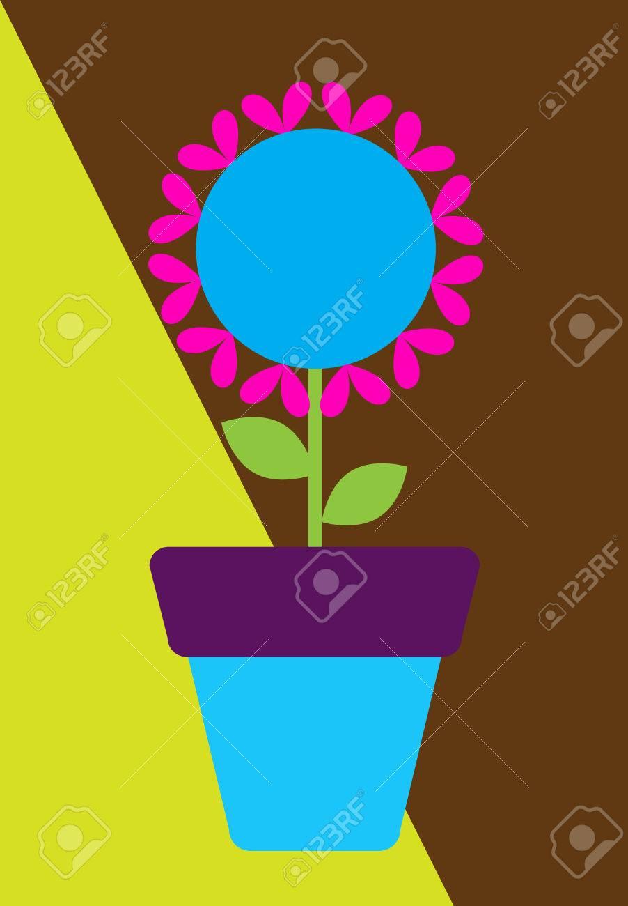 Modele Colore Pot De Fleurs Vector Clip Art Libres De Droits