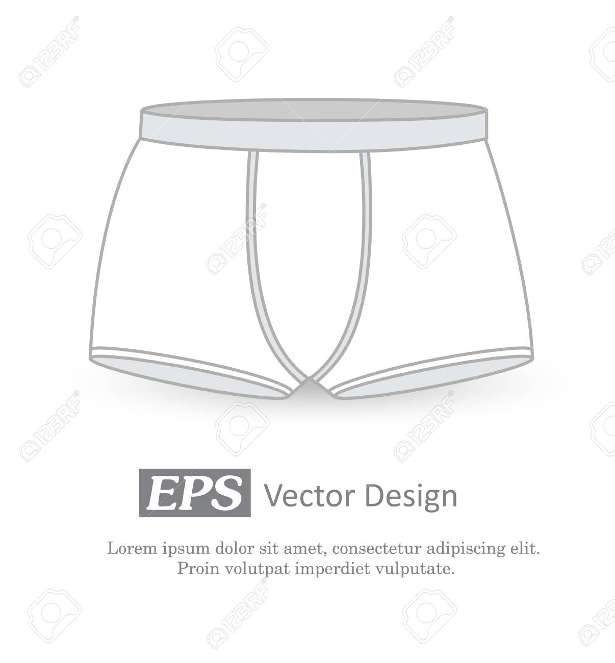 underwear vector template royalty free cliparts vectors and stock
