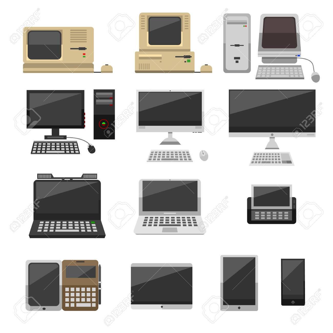 La Tecnología Informática Vector De La Evolución Pantalla Aislado ...