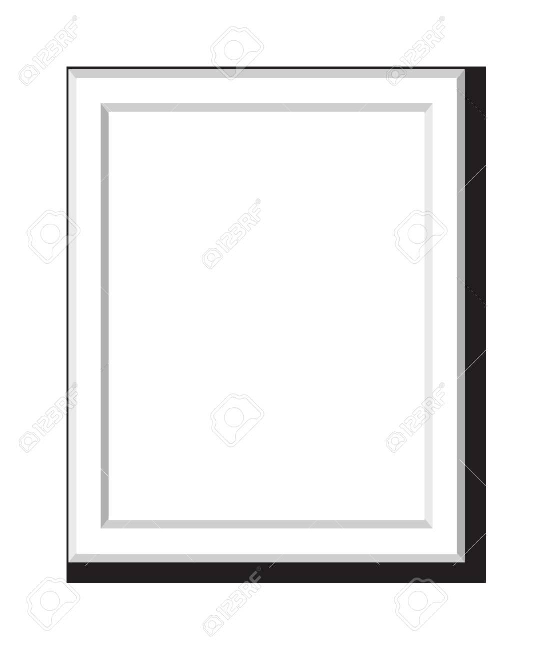 Antike Bilderrahmen Auf Weißem Hintergrund. Weinlese-Karikatur ...