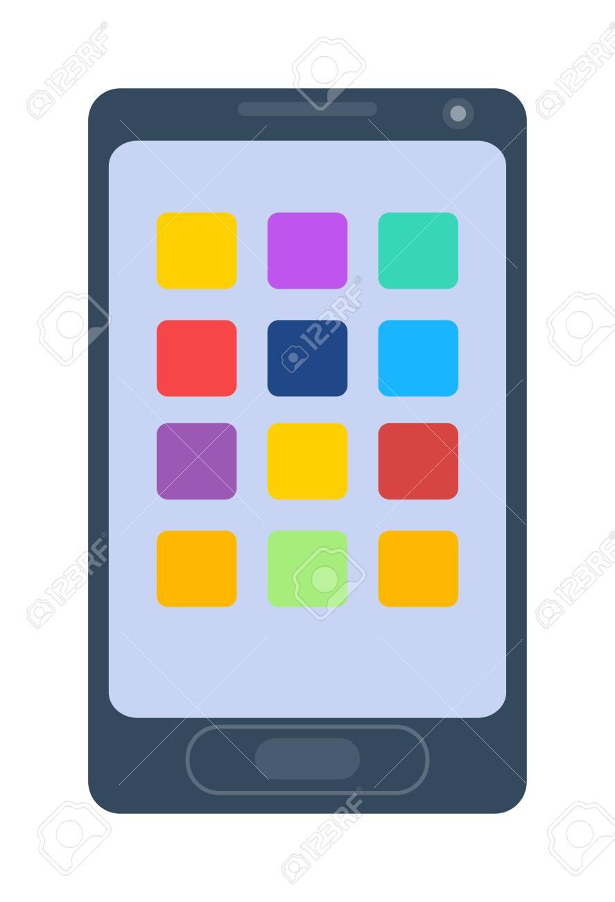 La Conception Du Téléphone Smartphone Et La Tablette De Dessin Animé Téléphone D Affaires Vecteur Intelligent Moderne Blanc Téléphone Intelligent
