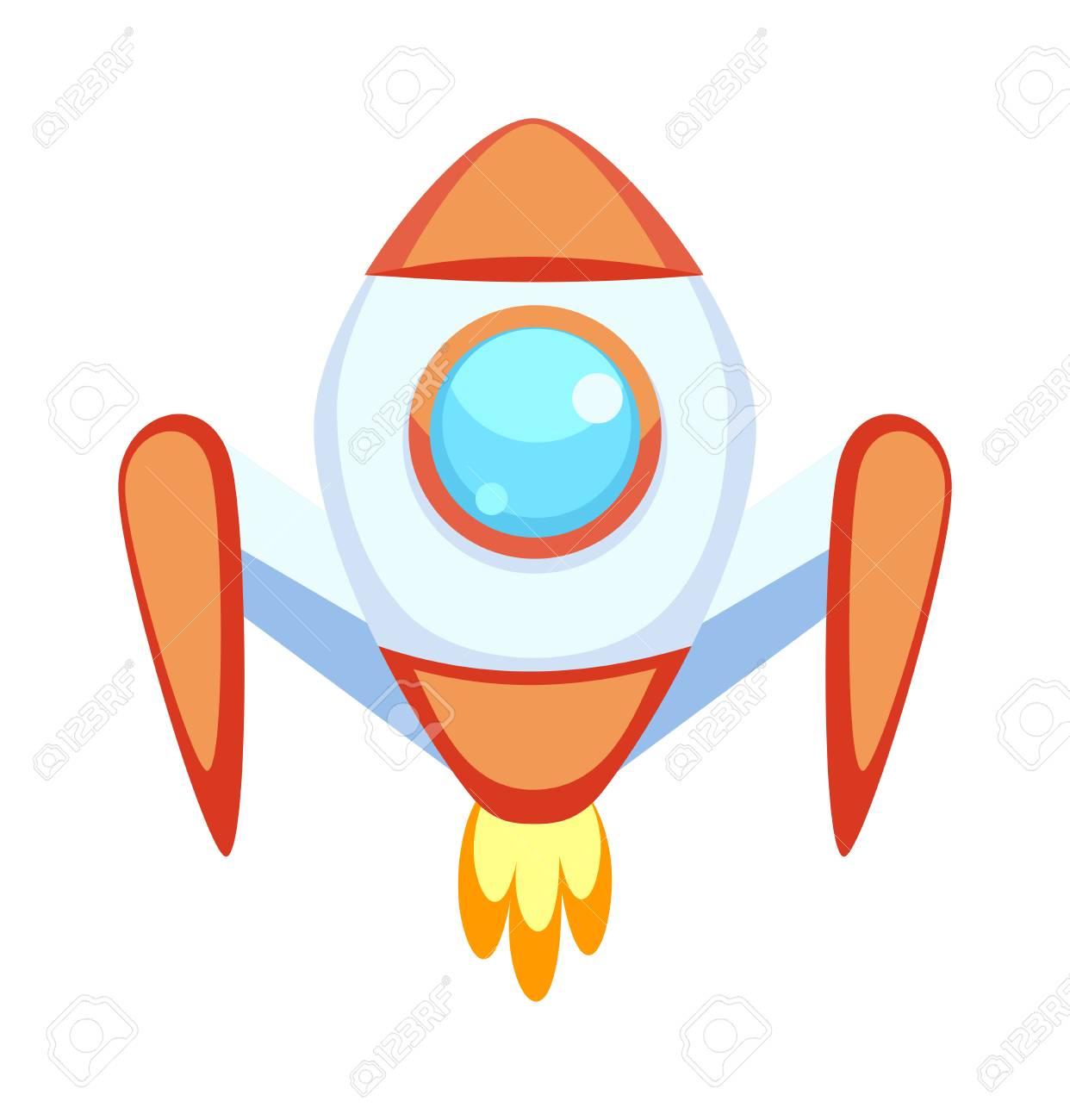 Rocket Set Vector Et Espace De La Technologie Des Icônes De Dessin Animé Fusée Navire Science Future Fusée De Voyage Et Fusée De Navette Fusée