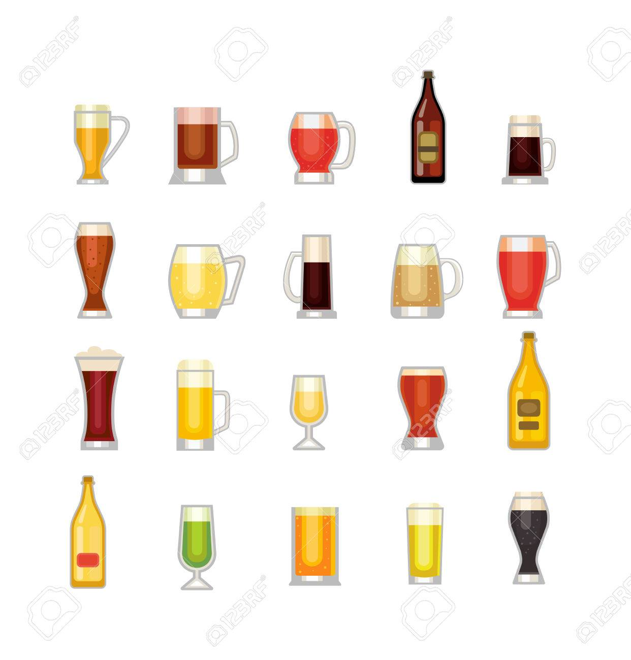 Alcohol Royalty Illustration Of Glass 60230220 Stock And Label Vectors Free Bottle Beer Types Different Image Cliparts