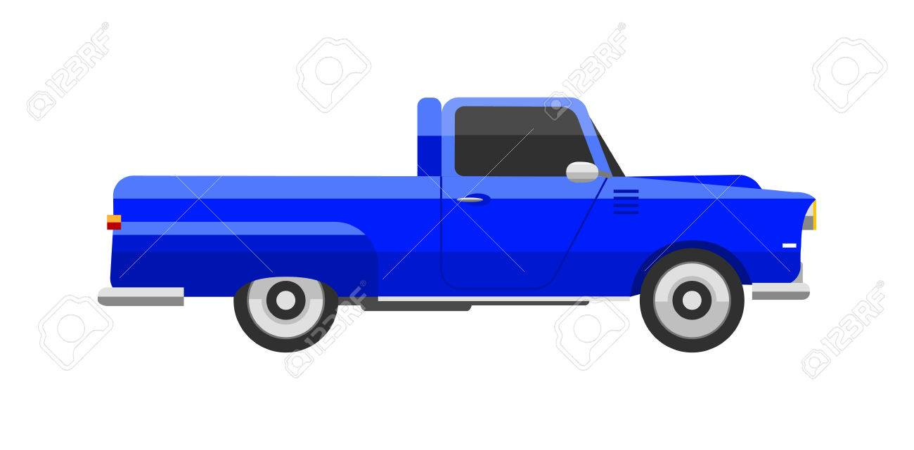 Retro Car Pick-up Icon Vintage Vector. Classic Transportation ...
