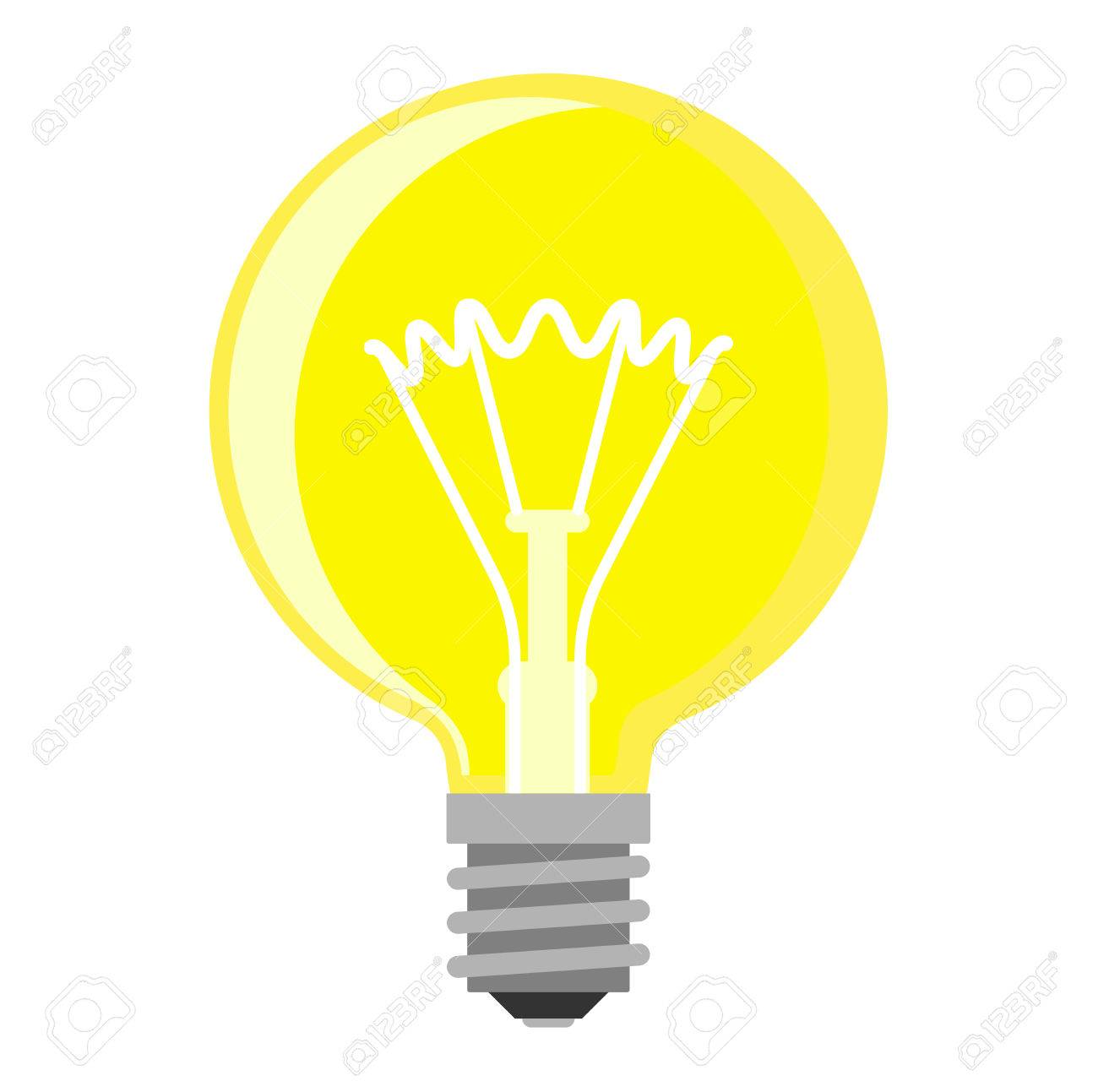 cartoon lamp electric and bright cartoon interior light tool rh 123rf com vector lighthouse vector lightning