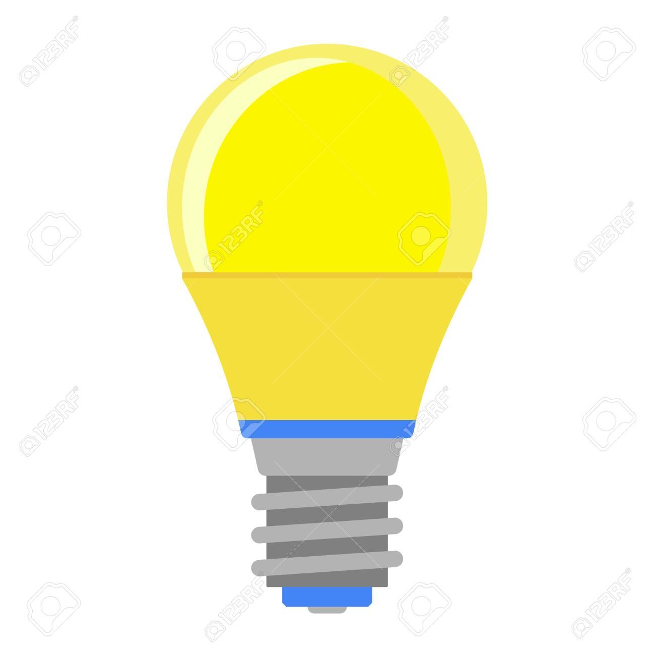 plana interiores lámpara la de herramienta la luz de dibujos historieta planabombilla eléctrica de y Lámpara de animados vector brillantes 4jL5RA