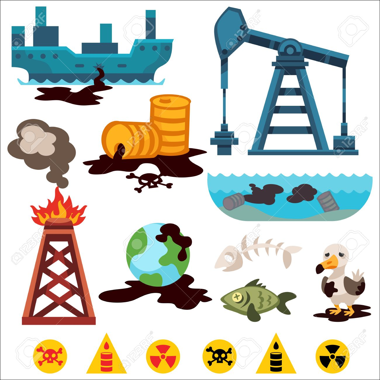 Ecological Problems Environmental Pollution Of Water, Earth ...
