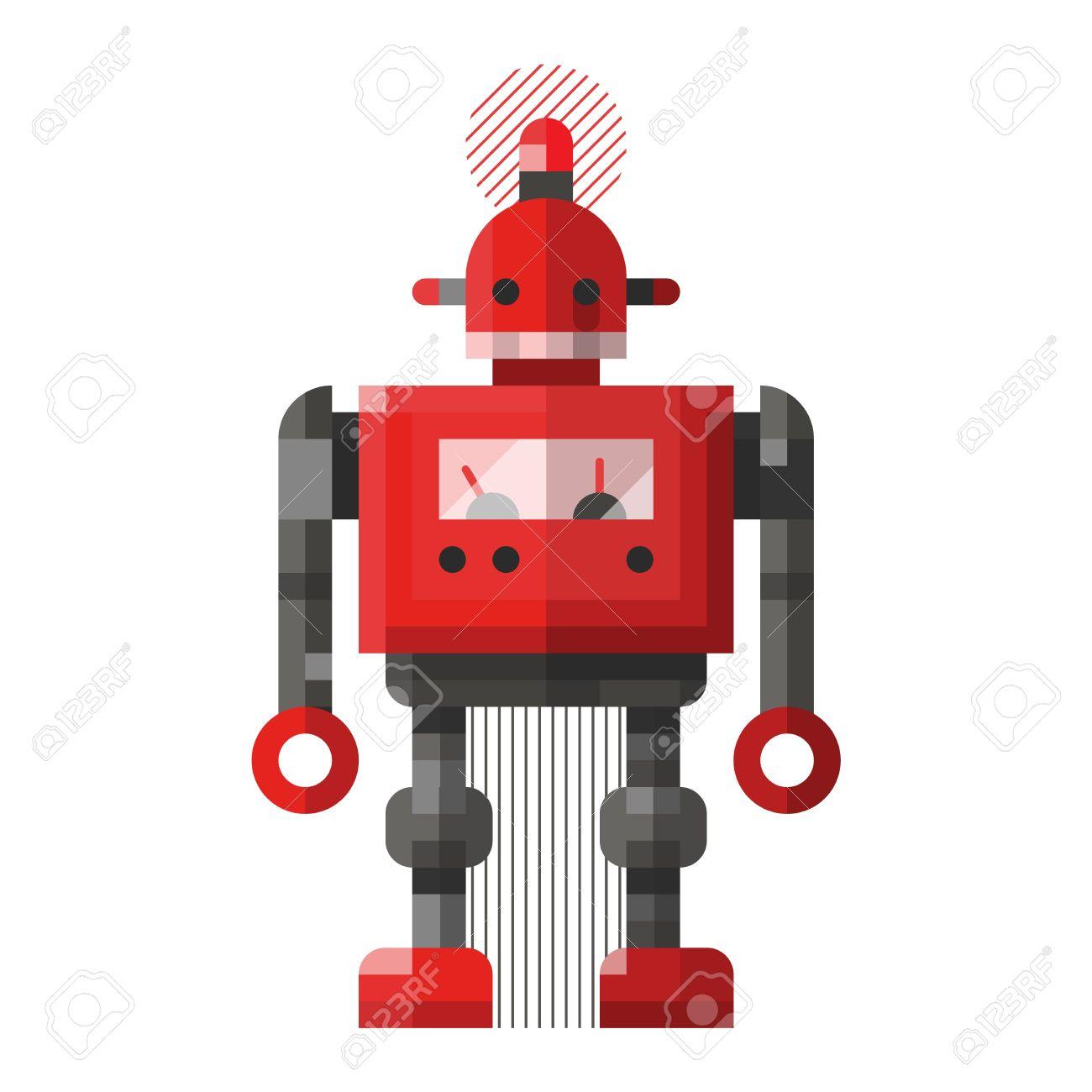cute robot vector character robot technology machine future rh 123rf com robo vector robovector laser level parts