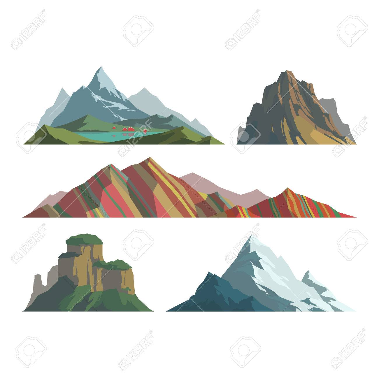 Mountain Vector Illustration Nature Mountain Silhouette Elements