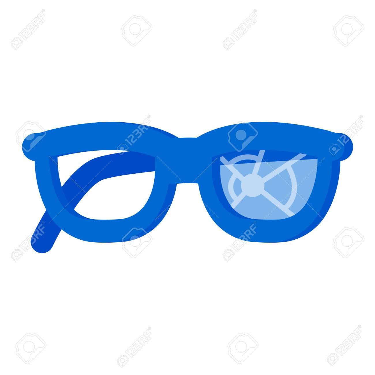 Broken Glasses Destroyed Break Spectacles. Damaged Eye Old Cracked ...