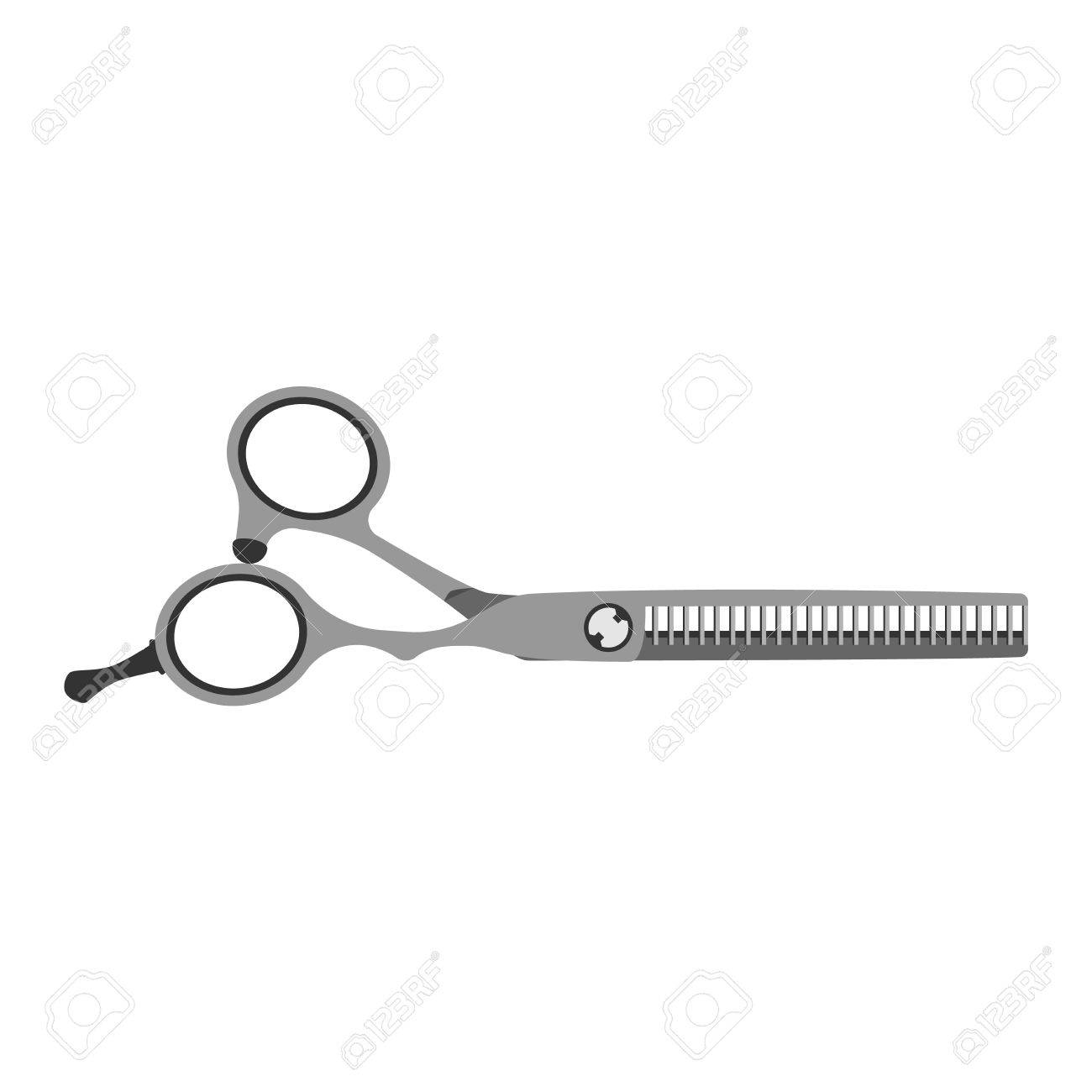 scissor vector illustration tool isolated on white background