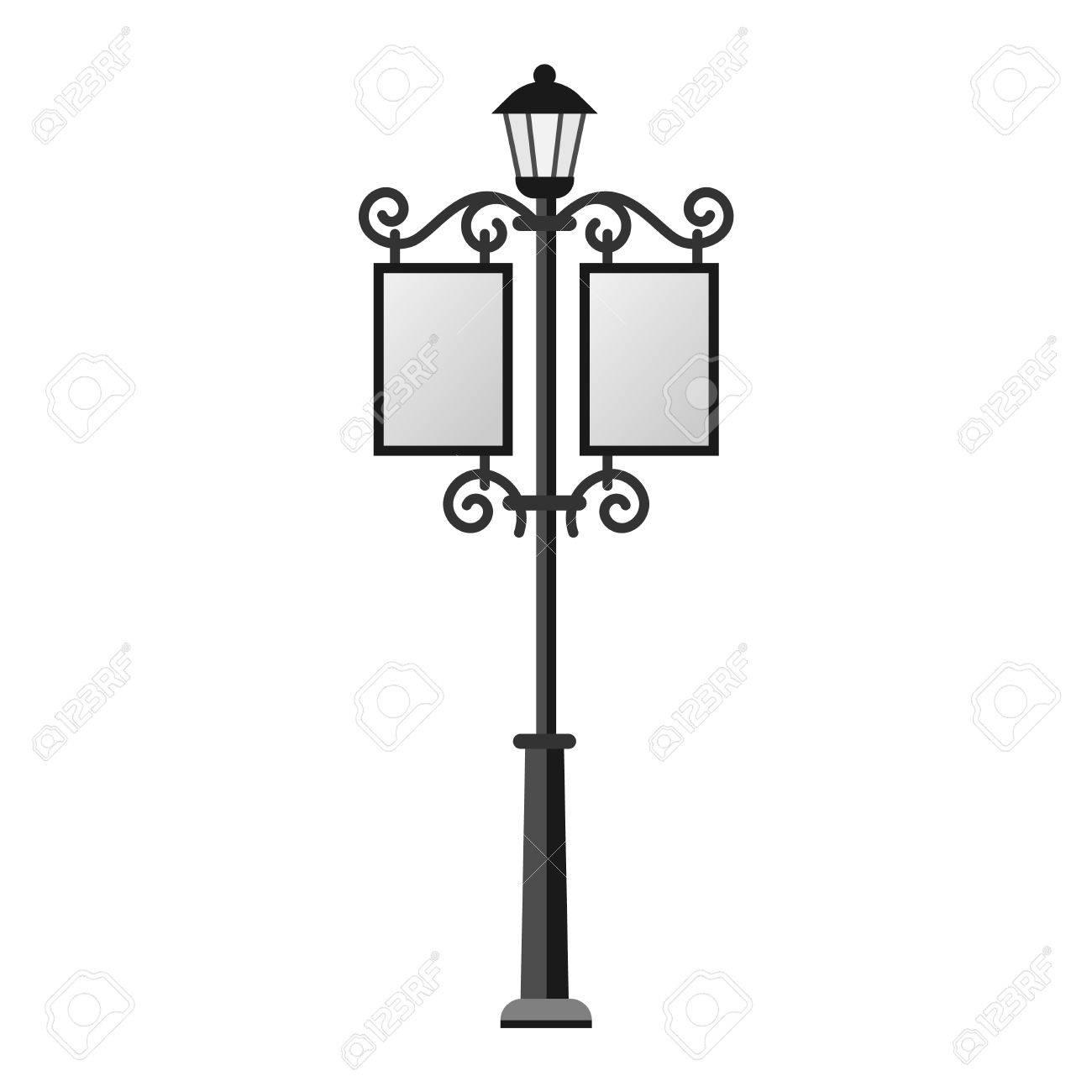 street lamp silhouette retro metal street object electricity