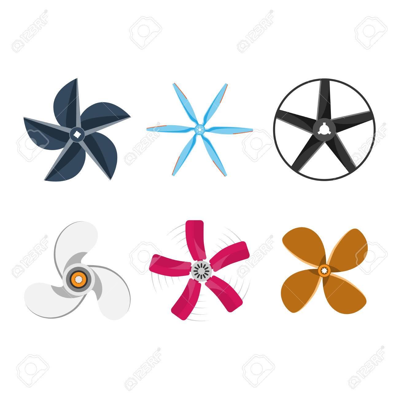 Turbinen-Symbole Propellerlüfterdrehtechnik Ausrüstung. Lüfterflügel ...