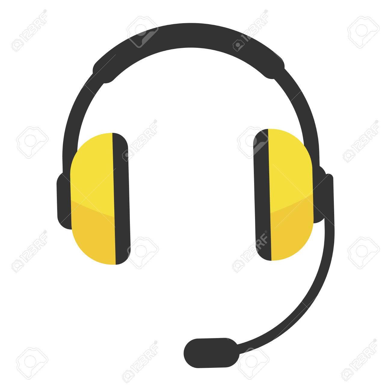 Couteur icône vecteur isolé sur fond blanc. Icône d'écouteur d'ordinateur web. Technologie écouteurs équipement de musique