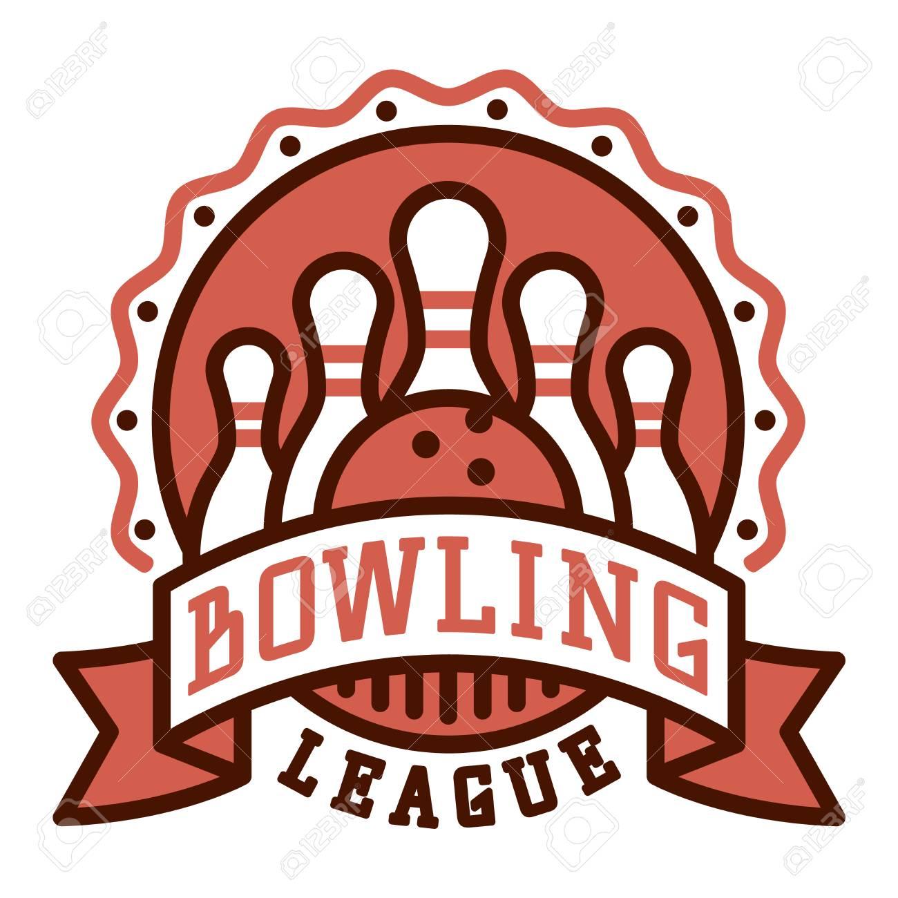 vector bowling logo emblem and sport logo design element bowling rh 123rf com bowling logos pictures bowling logopedia