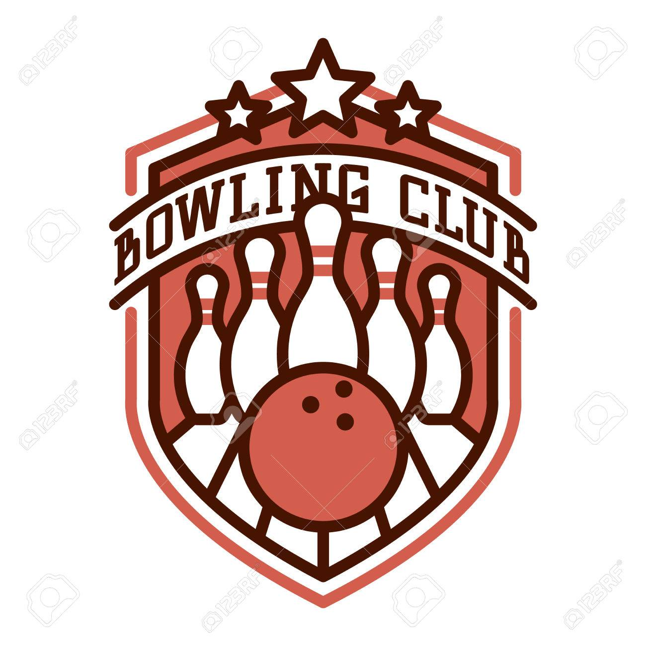 vector bowling logo emblem and sport logo design element bowling rh 123rf com bowling logo shirts bowling logos pictures