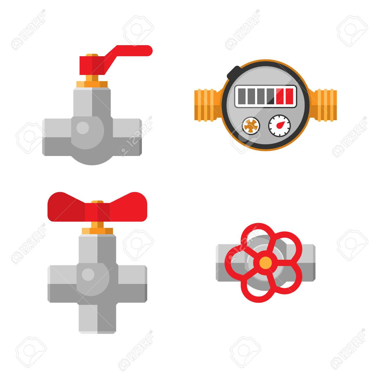 Details Pipes Different Types Collection Vector Set Of Water Tube