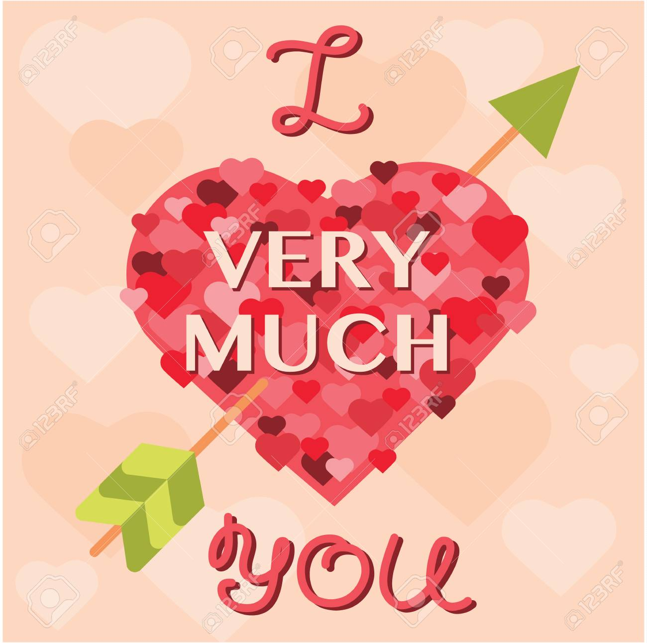 Valentine Day Cards Template Vector Stock Photo Picture And