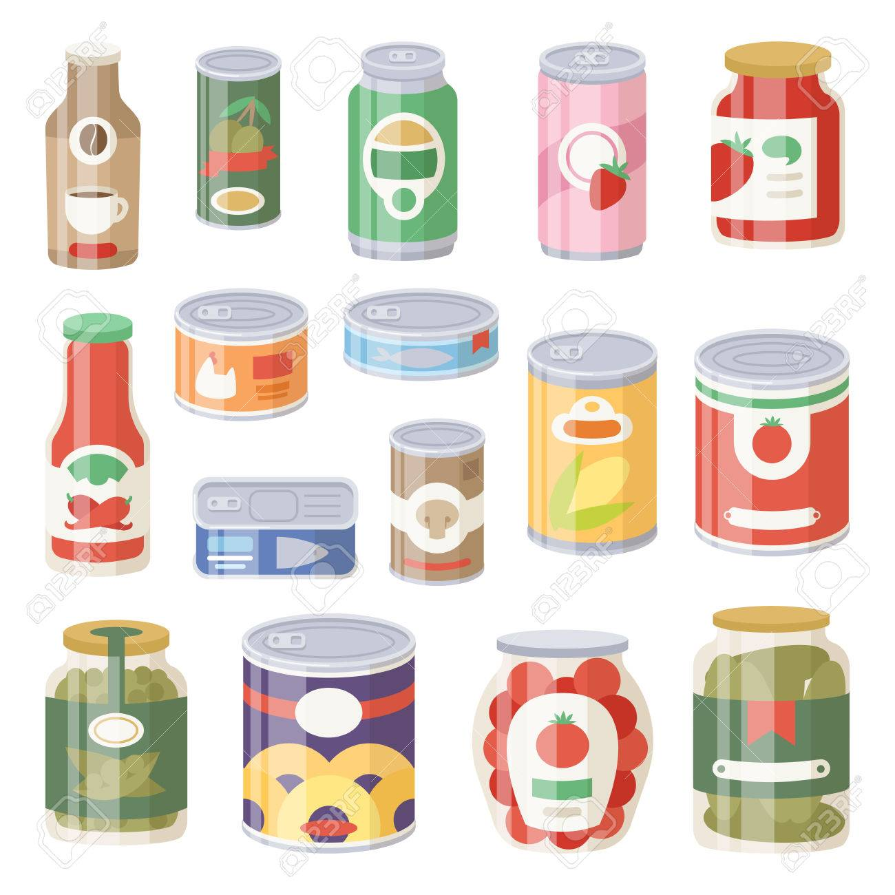 Collection Of Various Tins Canned Goods Food Metal Container