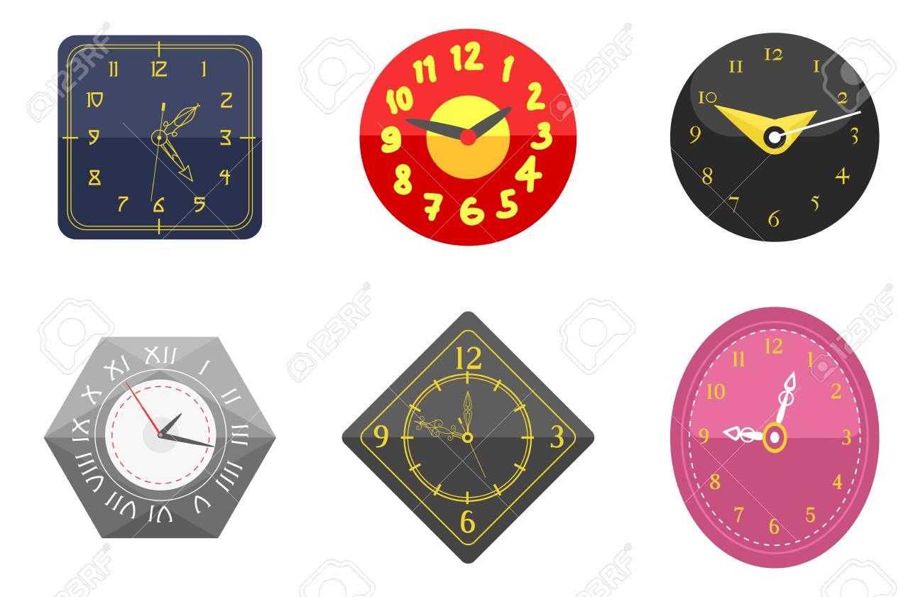 a5ac50ec3a56 Muestra Del Círculo Del Reloj De Pared Con La Colección Del Indicador Del  Cronómetro Y Los Iconos Del Ejemplo Del Vector Del Reloj Del Minuto Del  Cronómetro ...