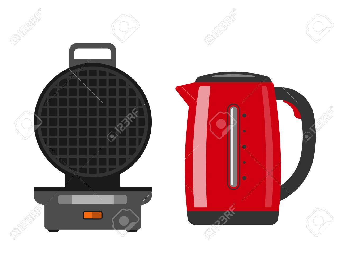 Marvelous Foto De Archivo   Waffle Fabricante De La Máquina Fácil De Hacer La Comida  En El Hogar Electrodoméstico Cocina Cocinar Desayuno Preparación Y Postre  ...
