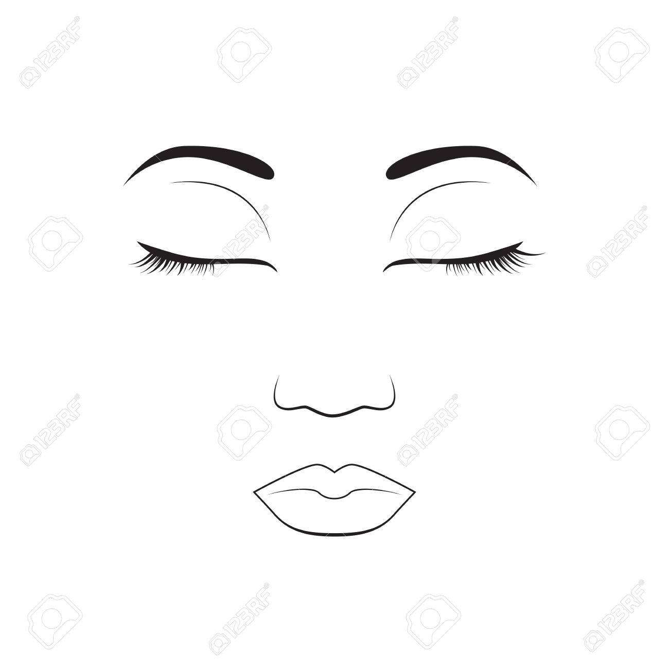 Girl Emotion Face Sleep Cartoon Vector Illustration And Woman