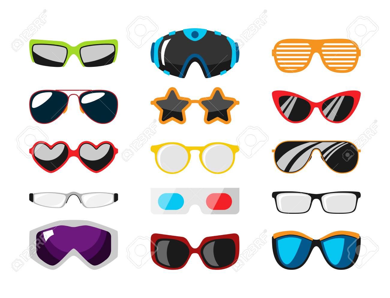 Fashion Set Sunglasses Accessory Sun Spectacles Plastic Frame ...