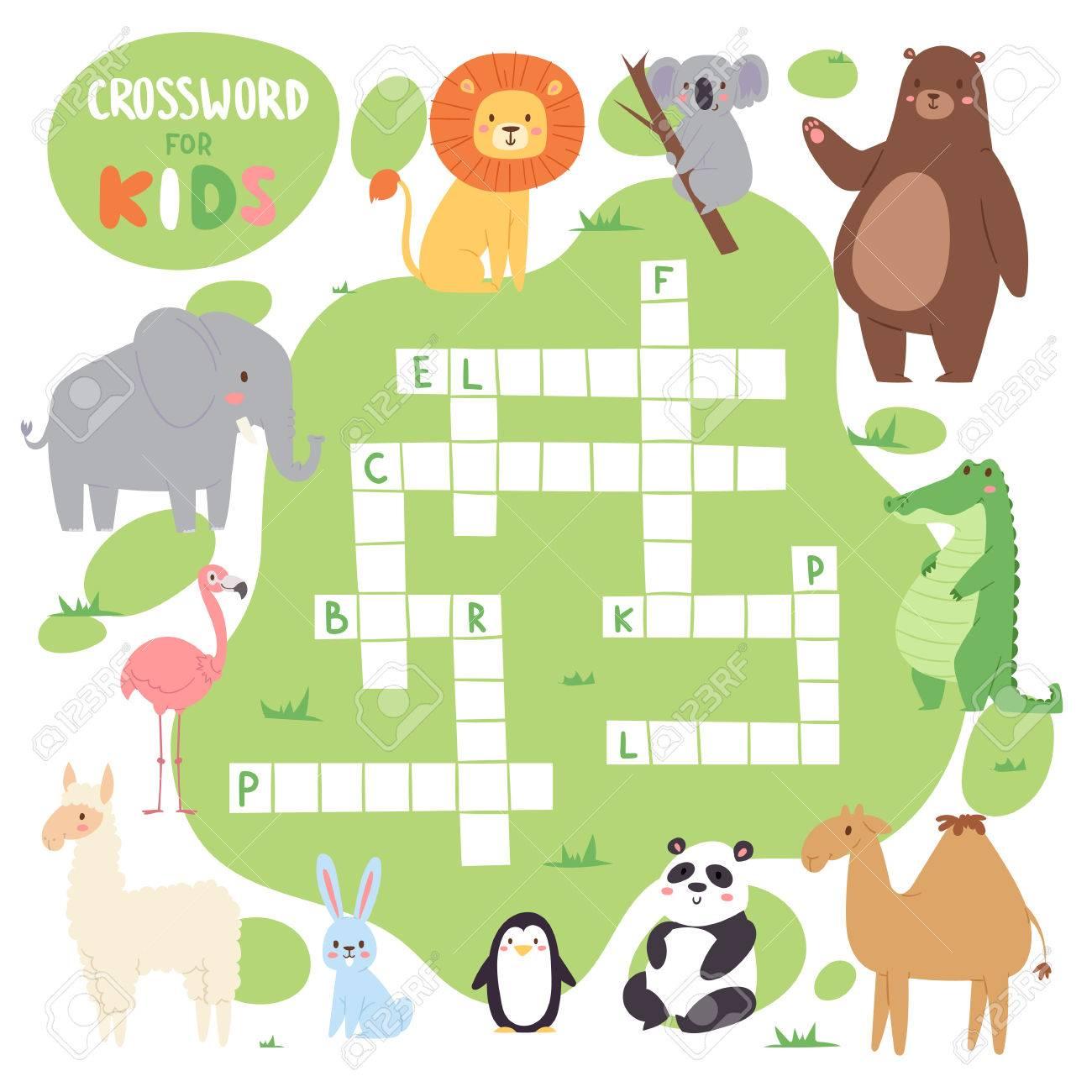 Kinder Zeitschrift Buch Puzzle Spiel Von Wald Tiere Logische ...