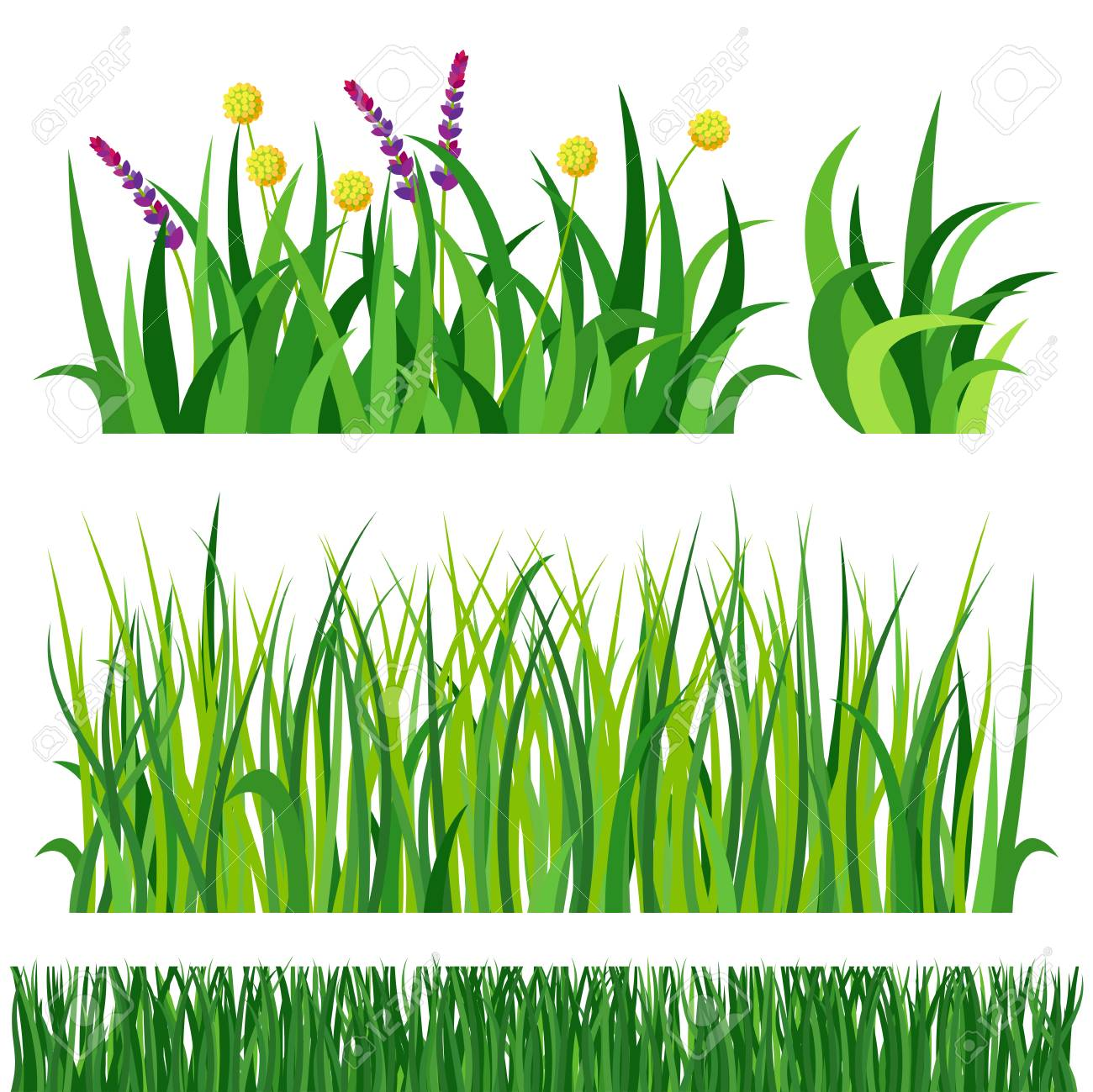 green grass nature design elements vector illustration isolated rh 123rf com grass vector to raster grass vector intersect
