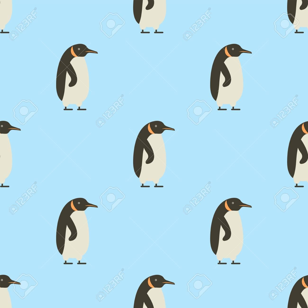 青い背景冬鳥漫画冷たい氷動物壁紙ベクトル イラストのペンギンの