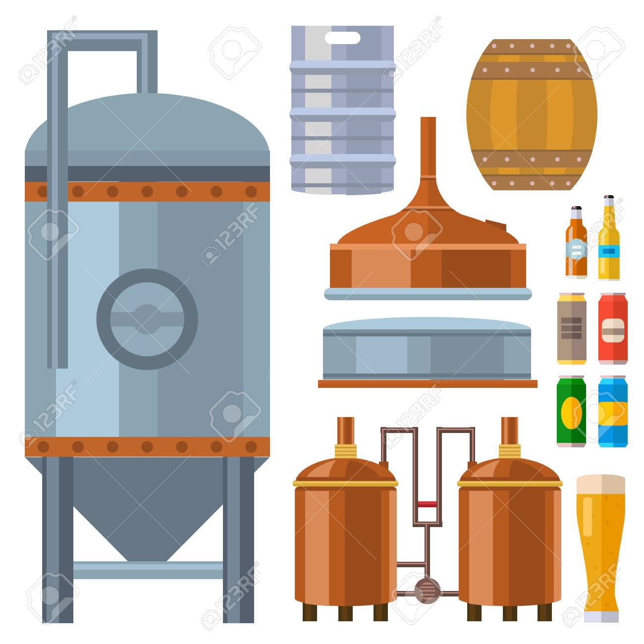 Beer brewing process alcohol factory production equipment mashing