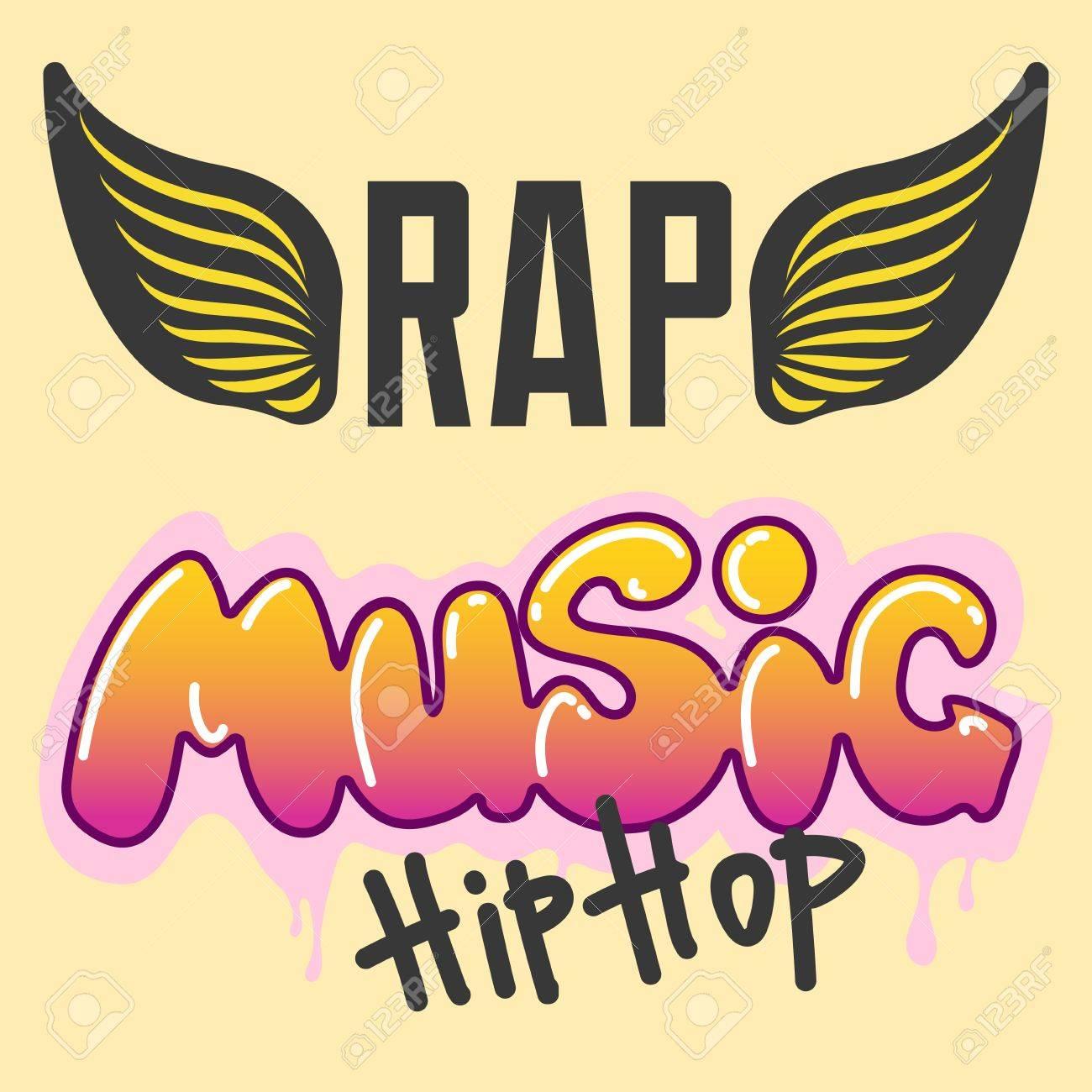 Graffiti Vector Hip Hop Music Text Art Urban Design Element Street Style Abstract Symbol Graphic