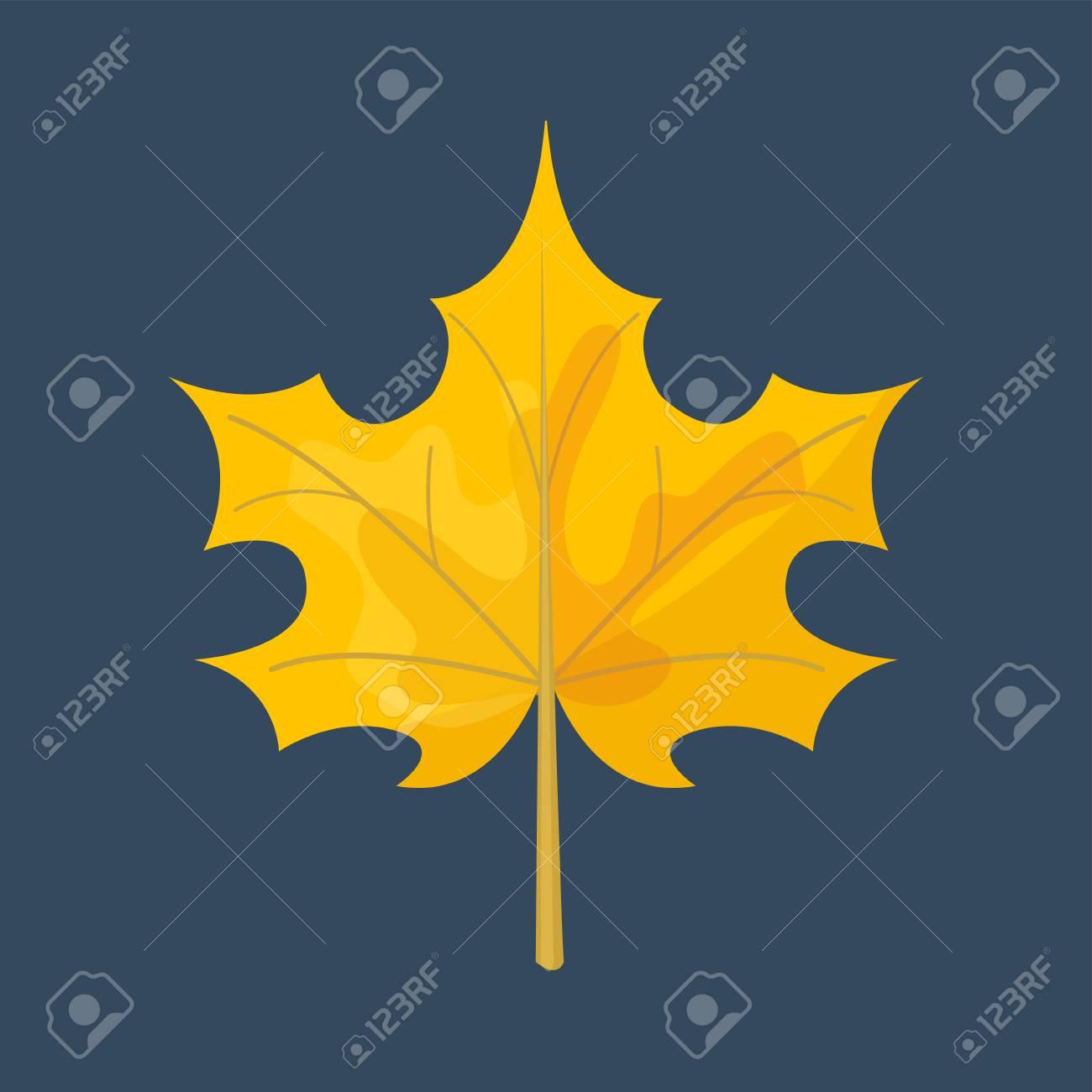 秋の黄色のカエデ葉シーズン自然色植物葉明るい装飾デザイン自然カラフルなフラット ベクトル イラスト 紅葉 11 月工場 のイラスト素材 ベクタ Image