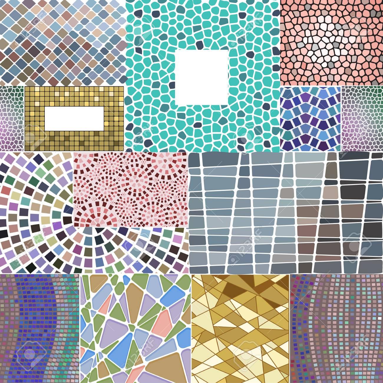 Mosaic Decoration Frames Patchwork Traditional Design Geometric ...