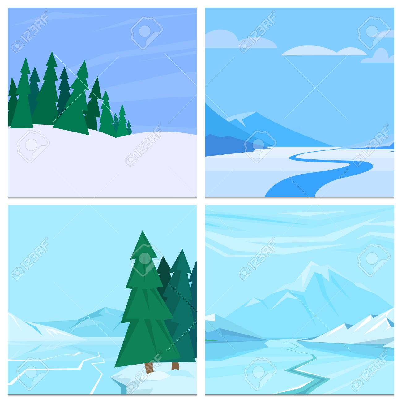Winter Landscape With Christmas Tree Mountain Frozen Nature Wallpaper Stock Photo Picture And Royalty Free Image Image 90023014