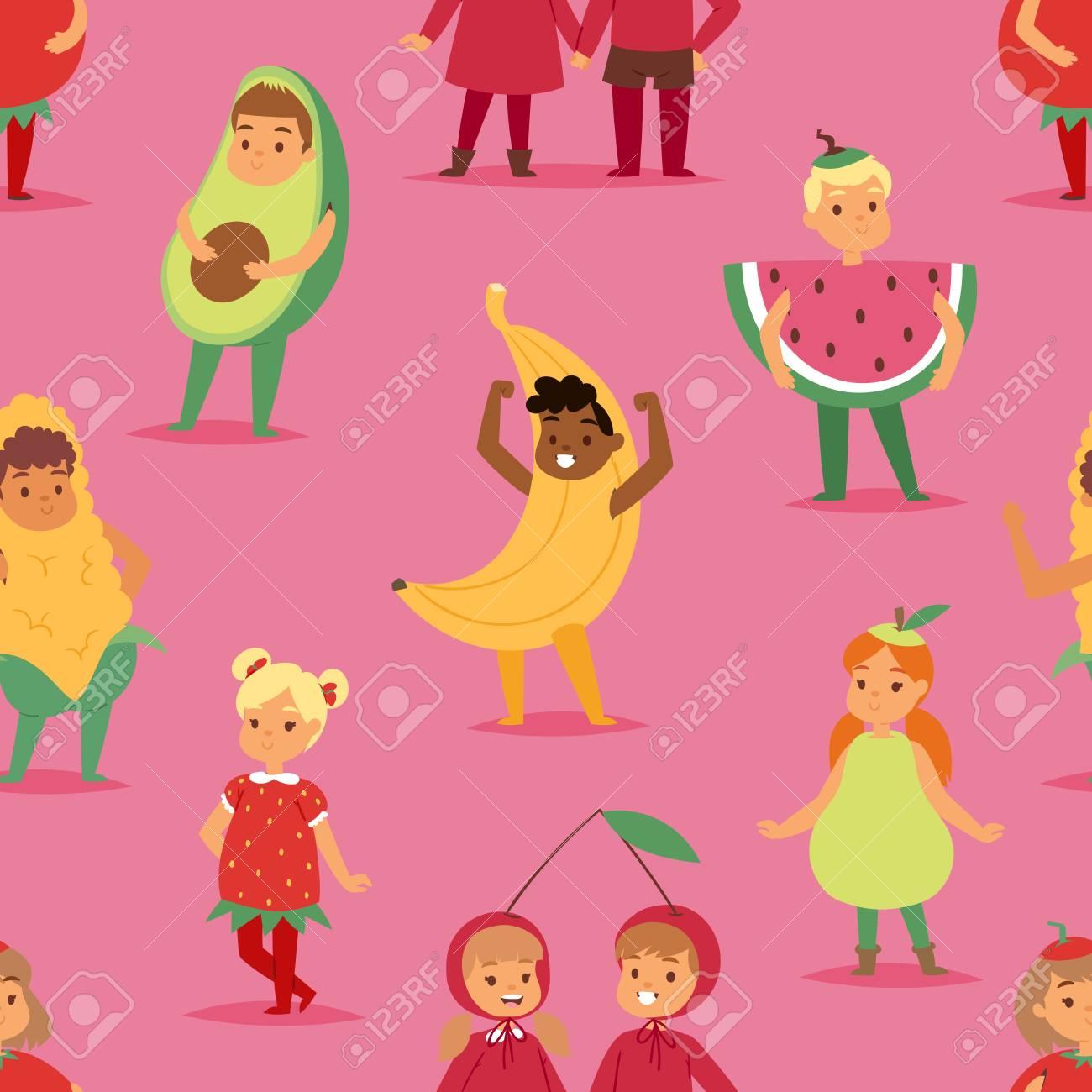8b5bfb450166f Banque d images - Enfants enfants fête des fruits costume dessin animé  masque et robe fête des garçons et des filles fantaisie enfance kid Noël  caractères ...
