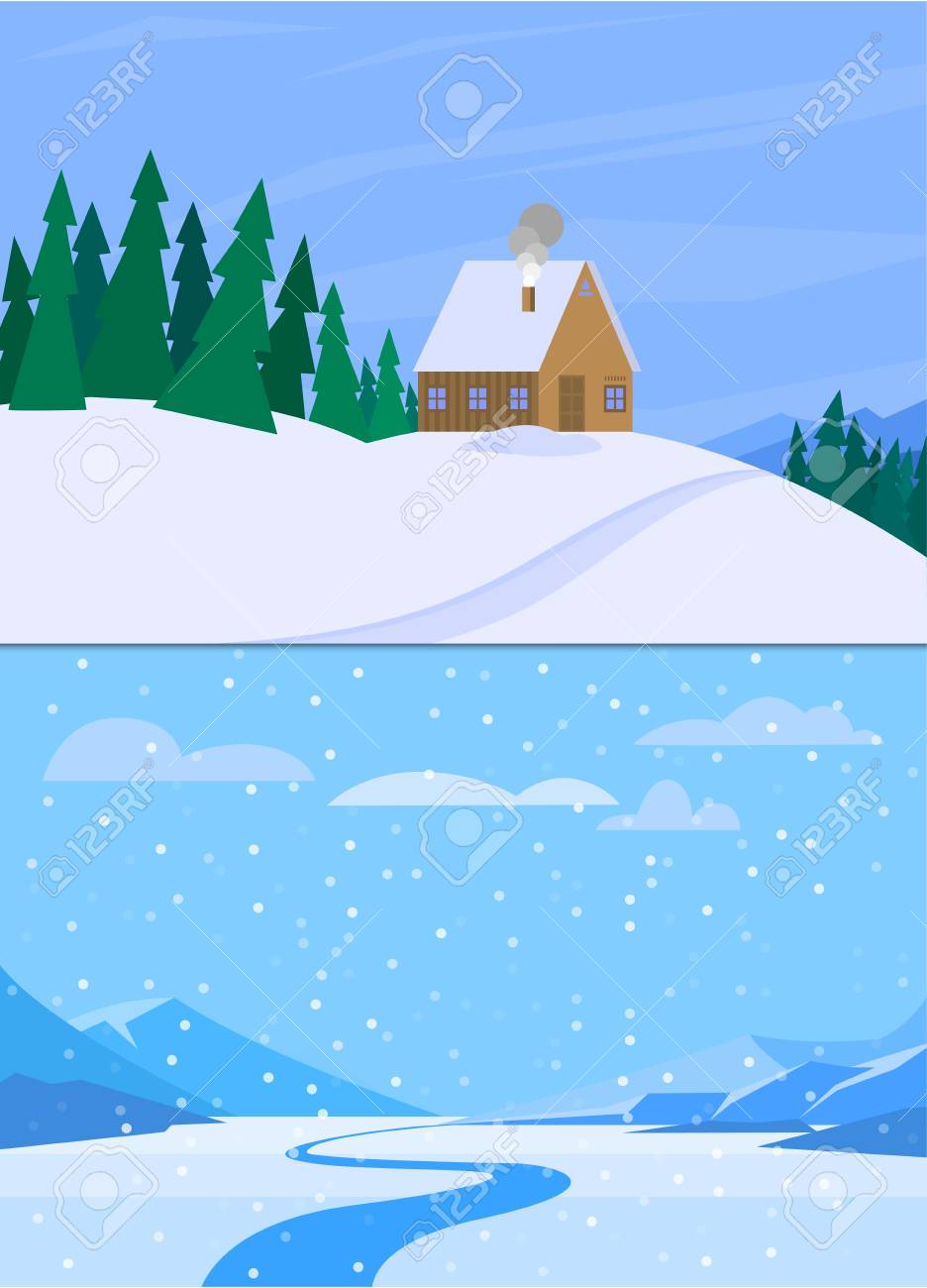 Download Wallpaper Mountain Cartoon - 90502407-winter-landscape-with-christmas-tree-mountain-frozen-nature-wallpaper-beautiful-natural-vector-illus  Pic_776291.jpg