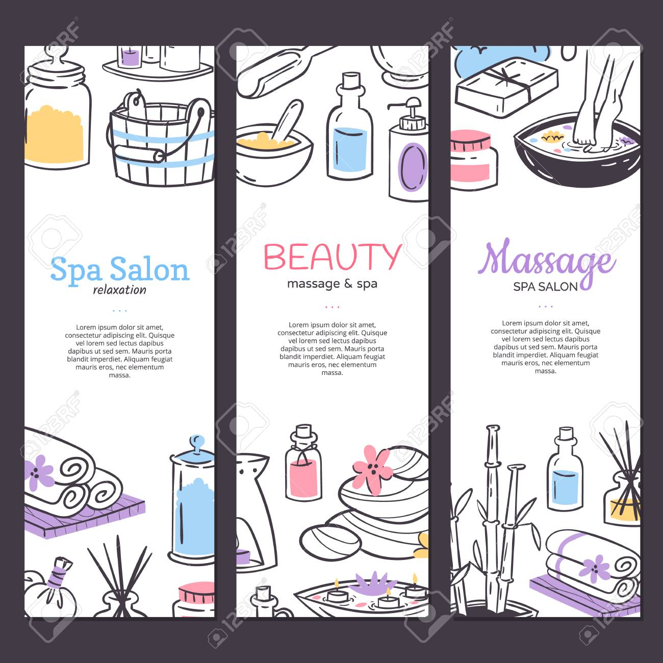 Spa Treatment Banner Background Design For Cosmetics Store Spa Royalty Free Cliparts Vectors And Stock Illustration Image 116657016