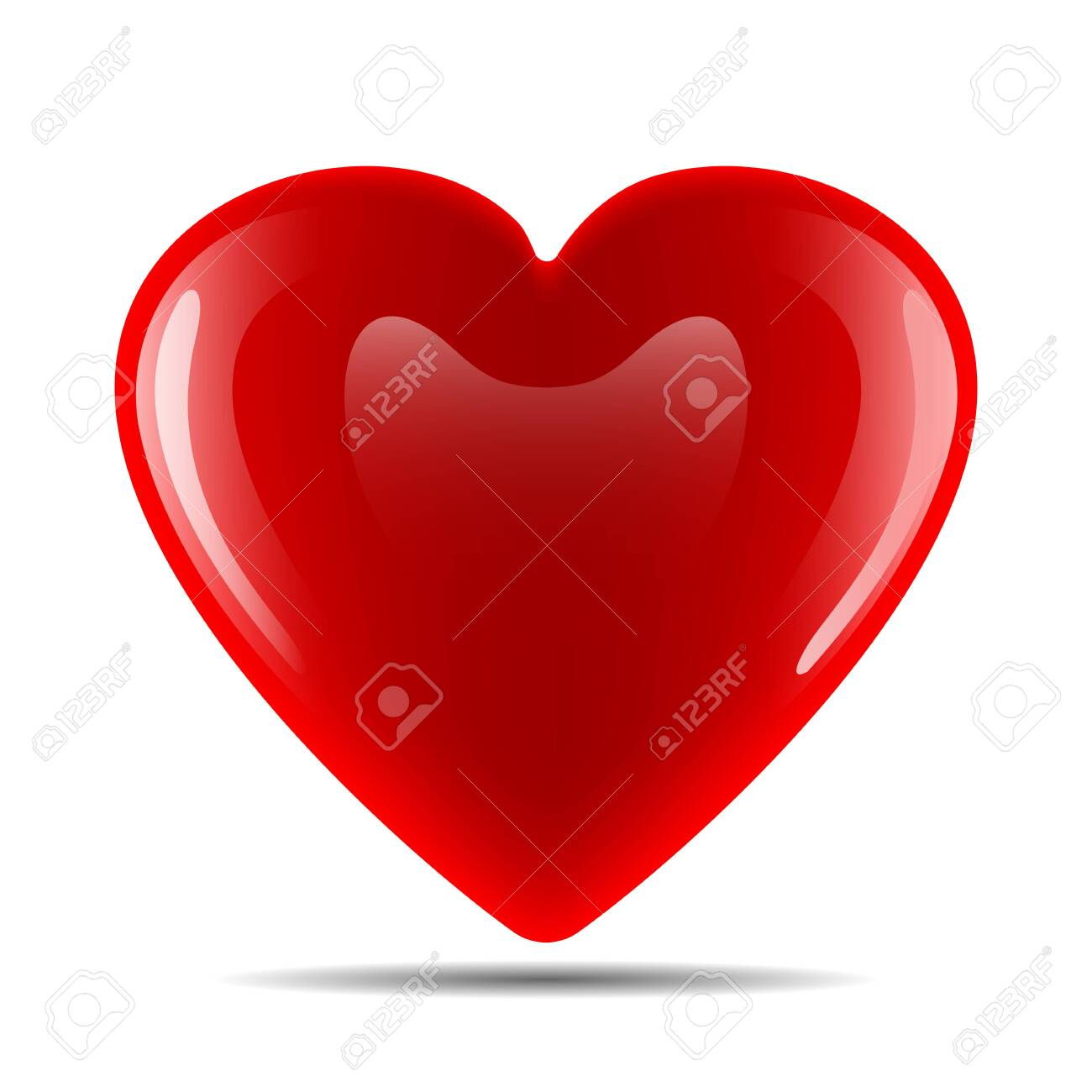 Vector image of a heart on a white background - 122412305