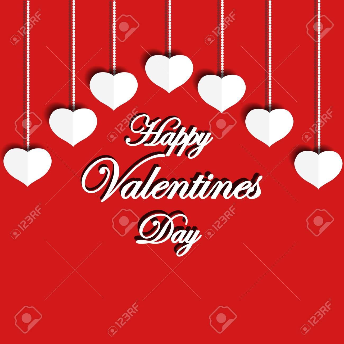 Feliz Dia Dos Namorados Frase De Saudação Mão De Desenho Vetorial Cartão Com Letras