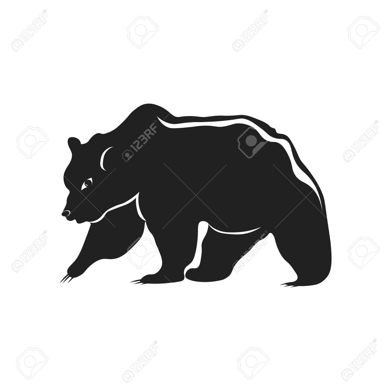 bear icon vector isolated on white background for your web and royalty free cliparts vectors and stock illustration image 106936796 bear icon vector isolated on white background for your web and