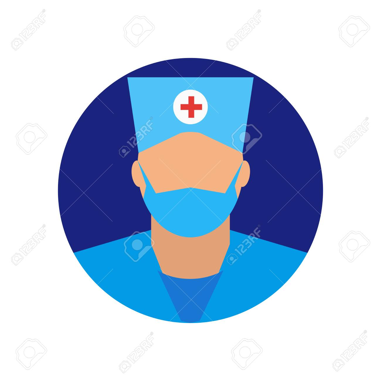 Surgeon Icon Vector Isolated On White Background For Your Web Royalty Free Cliparts Vectors And Stock Illustration Image 107097162