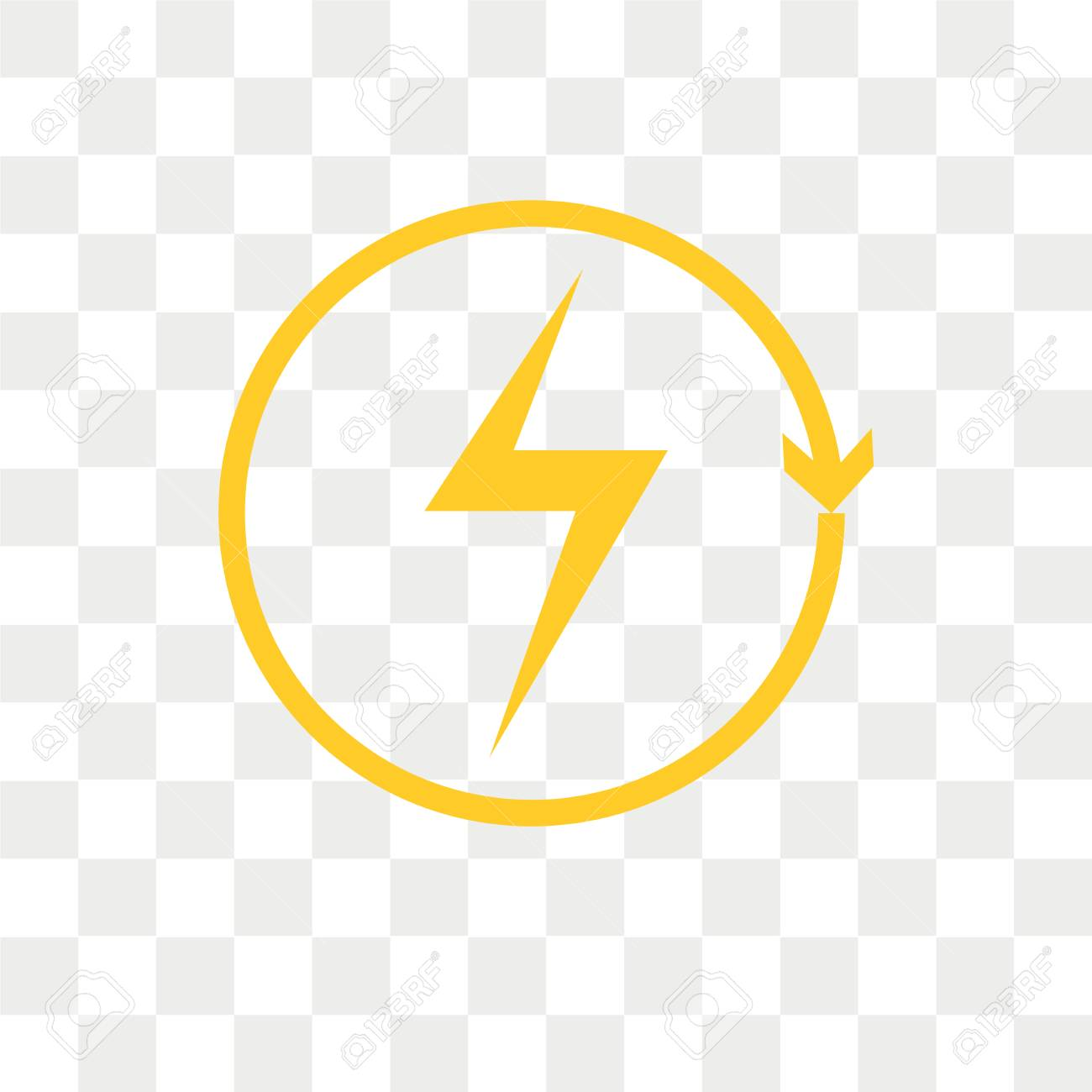 Renewable energy vector icon isolated on transparent background,