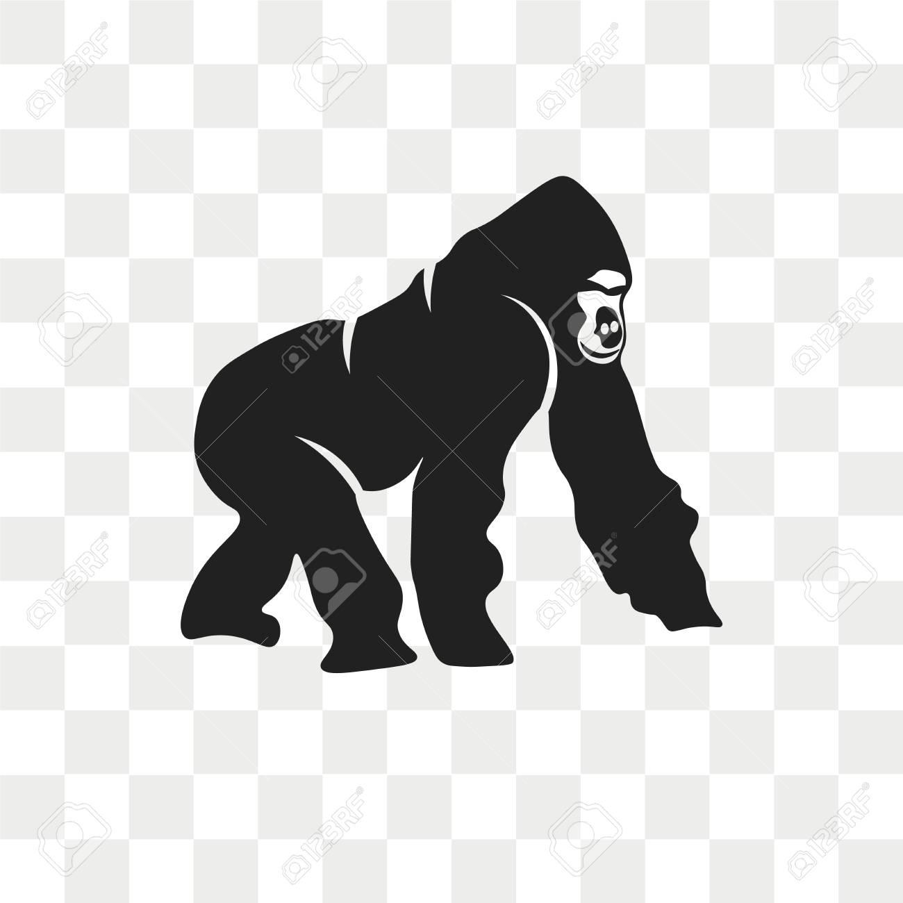2754646aa Gorilla vector icon isolated on transparent background, Gorilla logo  concept Stock Vector - 108559574